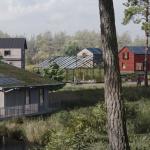 Bildkälla: http://ekobyntallberget.se. I Gnesta planeras en ny ekoby med bland annat coffice och kulturhus.