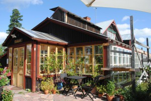 Ekologiskt trähus, växhuset, Söderhamn.