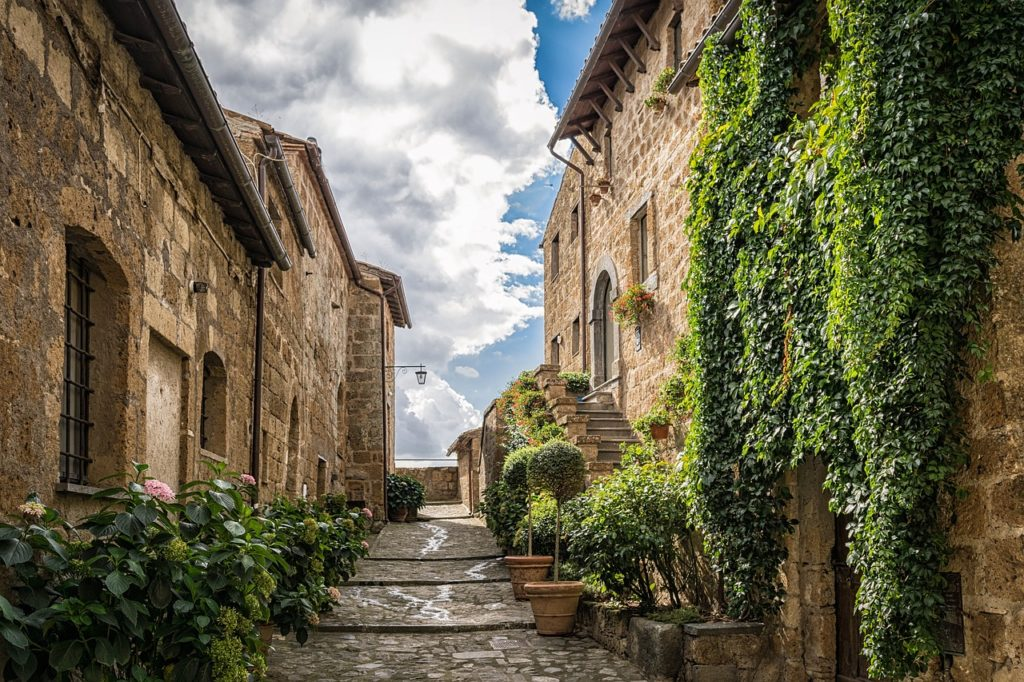 alley, road, middle ages
