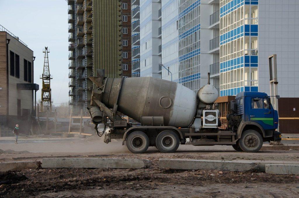 construction, concrete mixer, machine