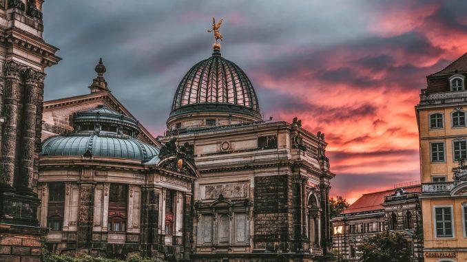 dresden, sunrise, historic center