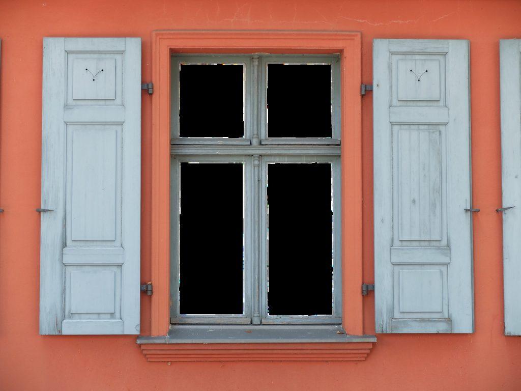 window, shutters, wood